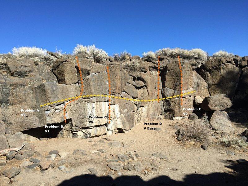 Rock Climbing Photo: Sector C Topo