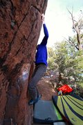 Rock Climbing Photo: This shows pretty well the left start hold and the...