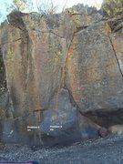 Rock Climbing Photo: Sector F Left Center Topo