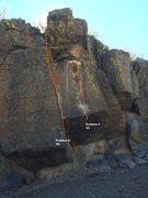 Rock Climbing Photo: Sector F Center Topo