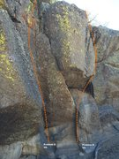 Rock Climbing Photo: Sector F Right Topo