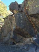 Rock Climbing Photo: Sector F Right Center Topo