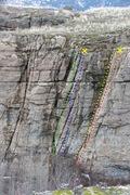 Rock Climbing Photo: Teaser area topo
