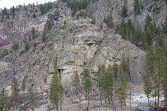 Rock Climbing Photo: High and Away Crag - one of several crags (so-far ...