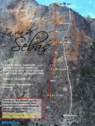 Rock Climbing Photo: -La vía de Sebas, equiped by Pitxi in December 20...