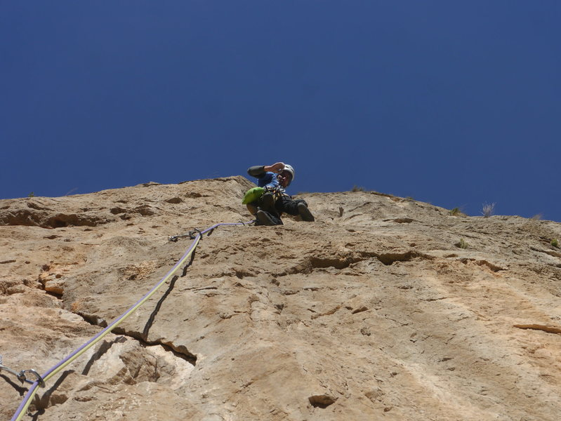 Climbing P4, &quot;La vía de Sebas&quot;<br>