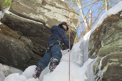 Rock Climbing Photo: Deep Notch Catskills NY. Jonah climbing on the pra...