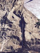Rock Climbing Photo: TR set up on Hidden Flake (5.10a variation)