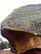 "Rock Climbing Photo: Overview of the problem.  Starting ""brick&quo..."