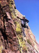 Rock Climbing Photo: Starting up the 2nd pitch of Rosy I on January 29,...