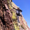 Starting up the 2nd pitch of Rosy I on January 29, 2015.