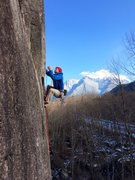 Rock Climbing Photo: Jens Holsten on a perfect winter day on the perfec...