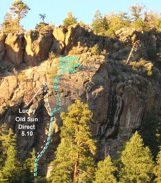 Rock Climbing Photo: LOS Direct photo topo