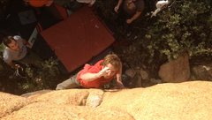 Rock Climbing Photo: Well-timed photo of the opening move.