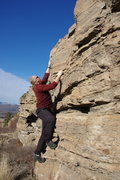 Rock Climbing Photo: Winter bouldering on the short band below the West...