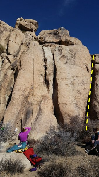 Rock Climbing Photo: Southwest Face of Jellystone, right (east) end.