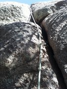Rock Climbing Photo: short crack to slab