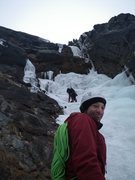 Rock Climbing Photo: Cauliflower Gully goes left past upper climber