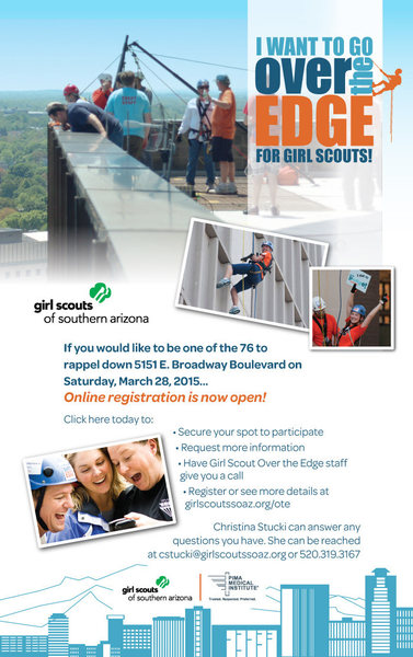 Rappel 17 stories and raise money for the Girls Scouts of Arizona!