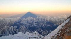 Rock Climbing Photo: Everest shadow