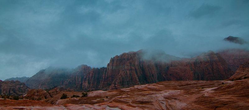 Snow canyon rain storm