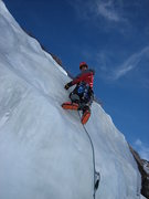 Rock Climbing Photo: Me leading on FA in Jan 2006.  Photo credit: Clint...
