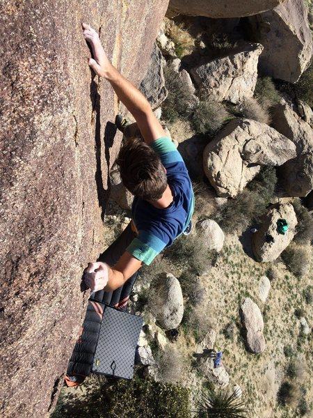 Rock Climbing Photo: Near the top. Photo: Kyle Noyes