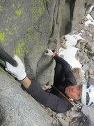 Rock Climbing Photo: Luke Lydiard climbing his route Jango Fett.