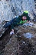 Rock Climbing Photo: Hofer in the crux.