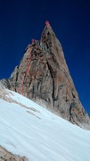 Rock Climbing Photo: Buch-Goin is located in the left-most dihedral, ju...