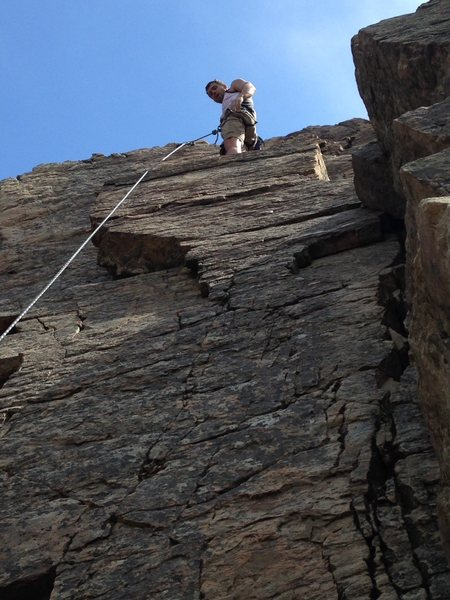 Rock Climbing Photo: Brent on the top outcropping of the so called &quo...