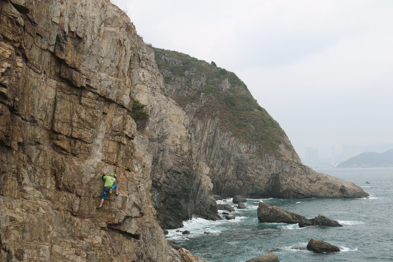 Coastal climbing at Cape Collinson.