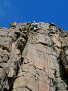 Rock Climbing Photo: Rope on left side of photo shows the route up the ...