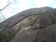 Rock Climbing Photo: Irish Jig in red and Mad Max in yellow (with the o...