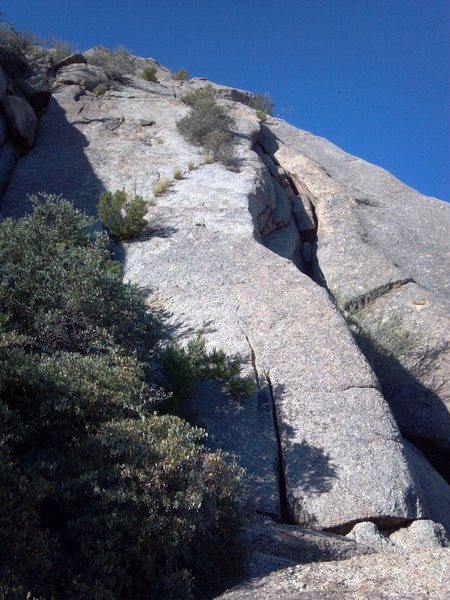 Rock Climbing Photo: The base of the upper East portion of Sven Slab.