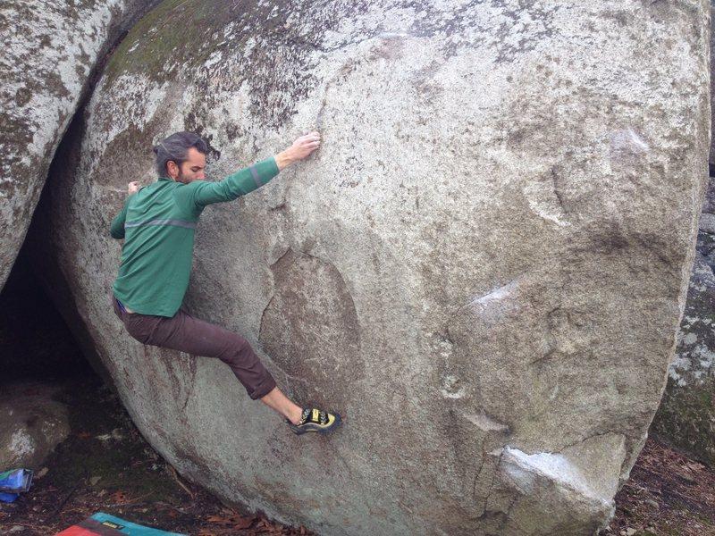 Rock Climbing Photo: Catching the edge...