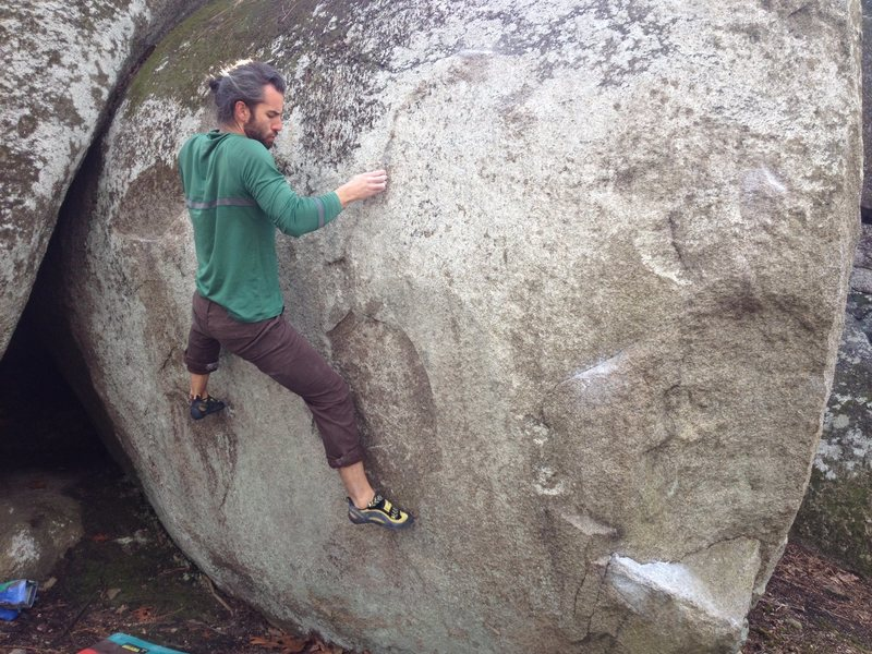 Rock Climbing Photo: About to make the move to the good edge (which is ...
