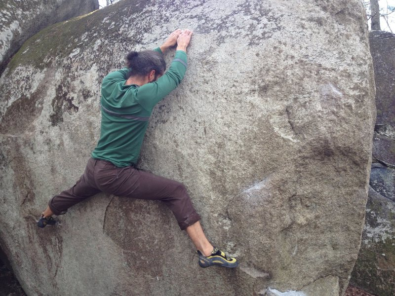 Rock Climbing Photo: Doing a little stretching...