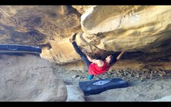 Rock Climbing Photo: Crux toe-hook