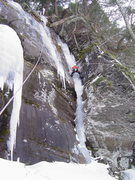 "Rock Climbing Photo: The route ""Catskill Ice Hose"" in the con..."