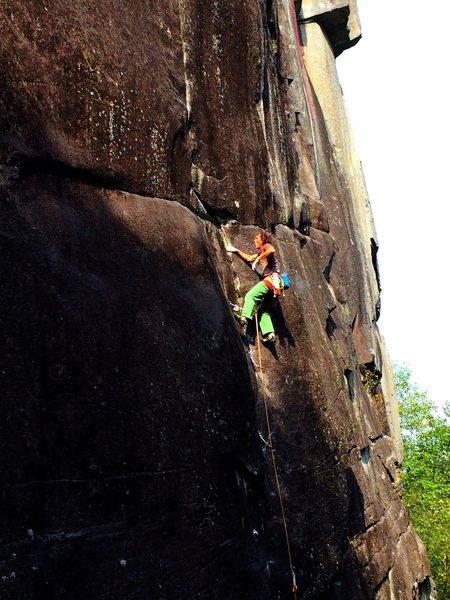 """Rock Climbing Photo: Chris Henson styling """"bwana dik""""."""