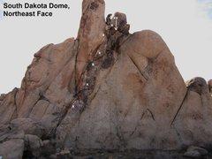 Rock Climbing Photo: South Dakota Dome Northeast Face Black Gold 5.10c