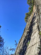 Rock Climbing Photo: Beautiful day to lead Hole in the Wall, while the ...