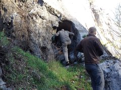 Rock Climbing Photo: Daniel &John check out the Hole in the Wall at the...