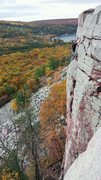 Rock Climbing Photo: Joe F polishing off Brinton's Direct. Recommended!...