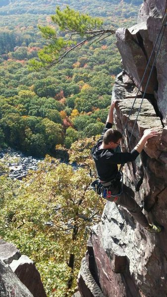 Rock Climbing Photo: Early fall colors from the top of Breakfast.