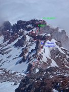 Rock Climbing Photo: This is looking down Curtis Ridge from the start o...