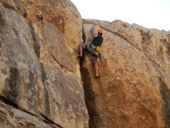 Rock Climbing Photo: The crux move (for me, anyway) stepping over the l...
