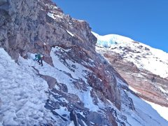 Rock Climbing Photo: Typical conditions on the upper section of Curtis ...