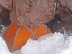 Rock Climbing Photo: Our bivy spot. We chose to bivy before the rappel ...